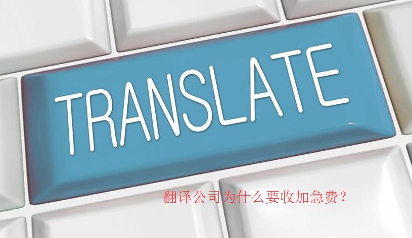 翻译公司为什么要收加急费?